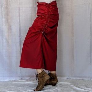 Cop. copine red light weight asymmetrical skirt